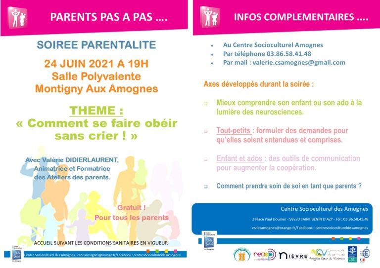 Read more about the article Soirée parentalité jeudi 24 juin